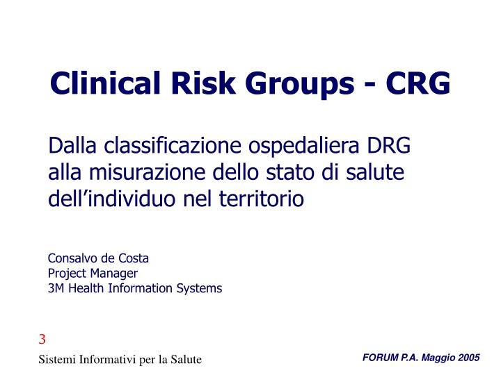 clinical risk groups crg n.