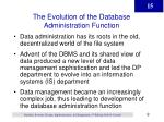 the evolution of the database administration function
