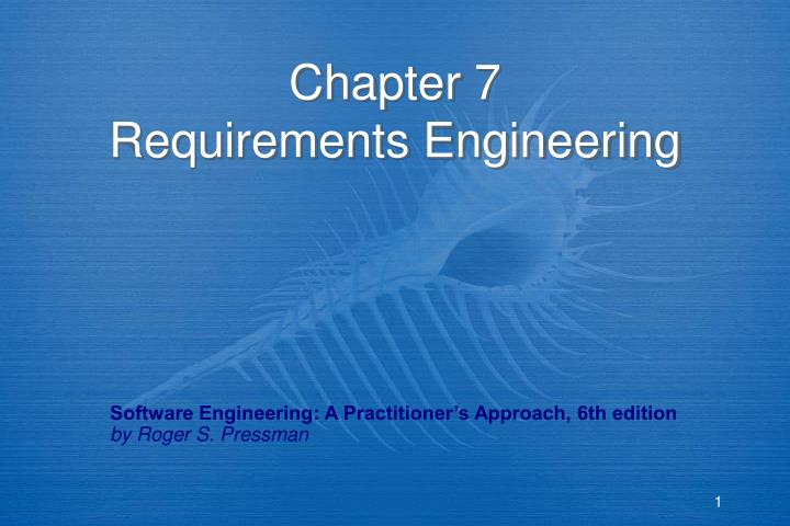 chapter 7 requirements engineering n.
