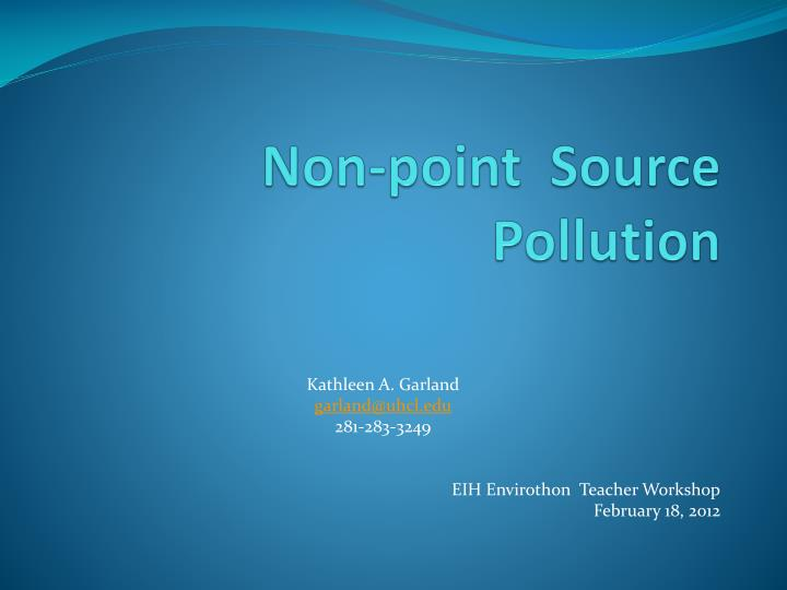 non point source pollution n.