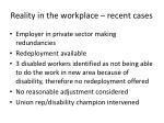reality in the workplace recent cases1