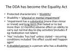the dda has become the equality act