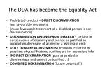 the dda has become the equality act1