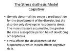 the stress diathesis model cognitive