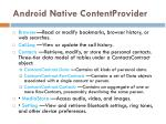 android native contentprovider