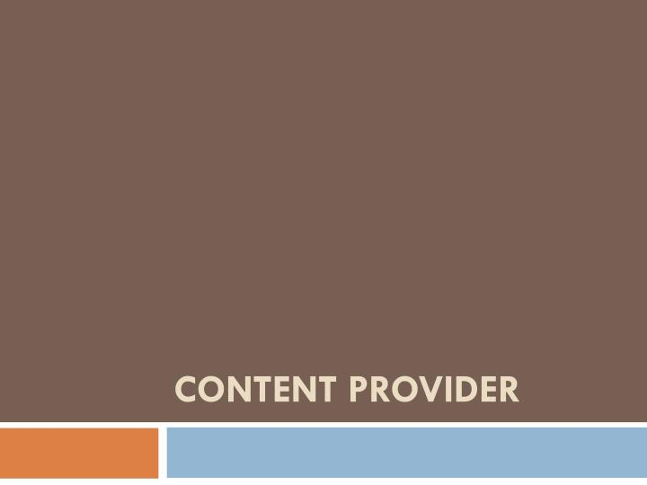 content provider n.
