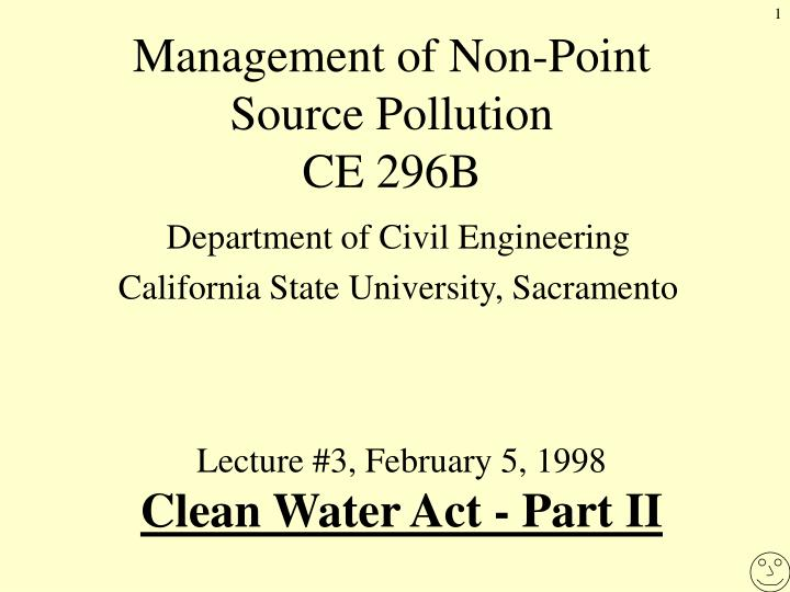 management of non point source pollution ce 296b