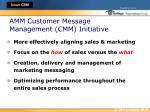 amm customer message management cmm initiative