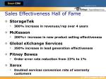 sales effectiveness hall of fame