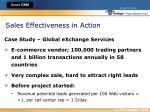 sales effectiveness in action