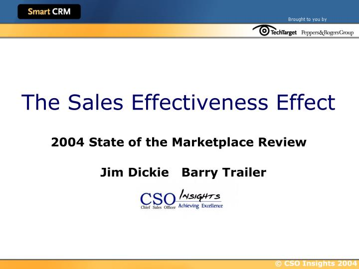 the sales effectiveness effect n.