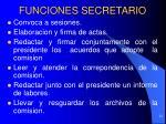 funciones secretario
