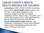 carver county s mental health services for children