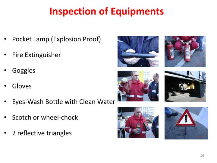 Inspection of Equipments