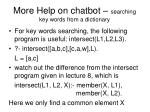 more help on chatbot searching key words from a dictionary