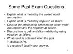 some past exam questions