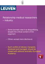 relationship medical researchers industry