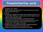presentation cue cards