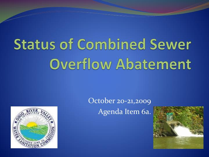 status of combined sewer overflow abatement n.