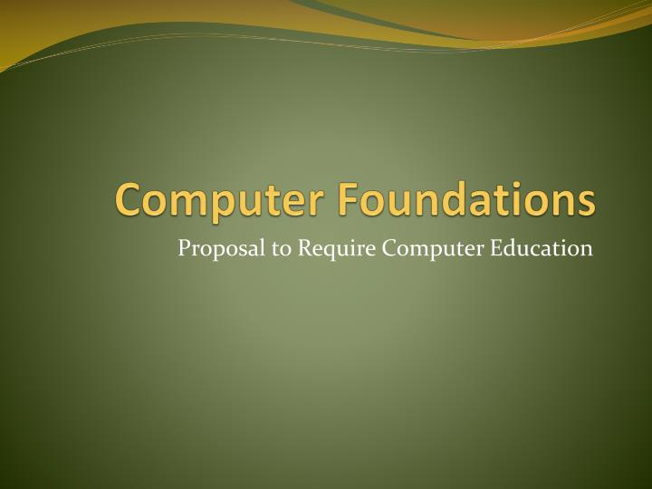 computer foundations n.