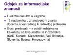 odsjek za informacijske znanosti