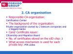 2 ca organisation