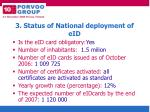3 status of national deployment of eid
