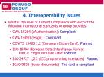 4 interoperability issues