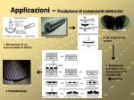applicazioni produzione di componenti elettronici