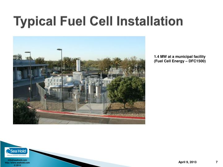 Typical Fuel Cell Installation