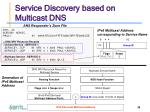 service discovery based on multicast dns