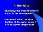 a humidity