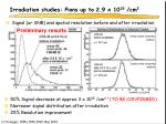 irradiation studies pions up to 2 9 x 10 15 cm 2