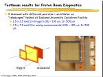 testbeam results for proton beam diagnostics