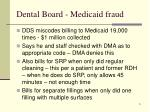 dental board medicaid fraud