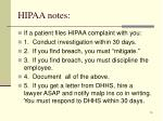 hipaa notes