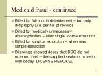 medicaid fraud continued