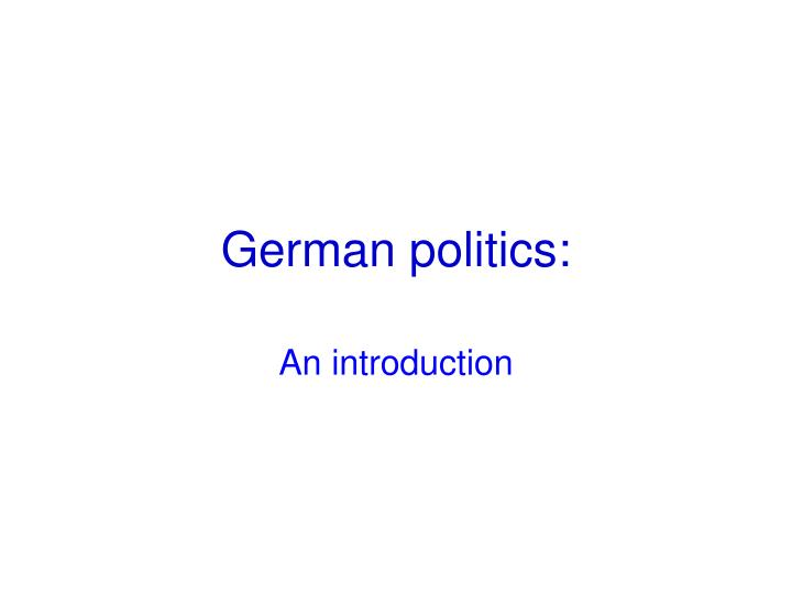 german politics n.