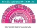 environmental and social model of health