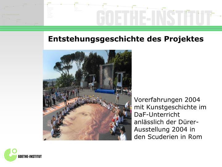 Entstehungsgeschichte des projektes