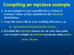 compiling an mpijava example