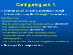 configuring ssh 1