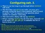 configuring ssh 3