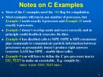 notes on c examples