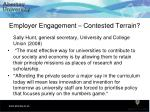 employer engagement contested terrain