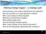 making strategy happen a strategy audit