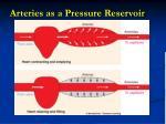 arteries as a pressure reservoir
