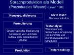 sprachproduktion als modell prozedurales wissen levelt 1989
