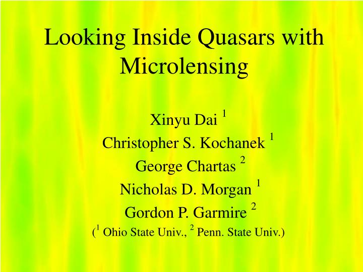 looking inside quasars with microlensing n.