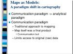 maps as models a paradigm shift in cartography